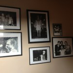 The black and white wall! Main photos/paintings by Tony Woolliscoft and Fab