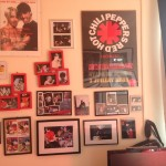The memorabilia wall: posters, some of my photos, photos from Blackie Dammett and memories :)