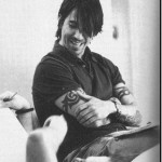 Anthony Kiedis black & white feet