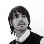 Anthony Kiedis black & white pensive
