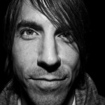 Anthony Kiedis black & white close up