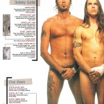 Anthony Kiedis naked in Kerrang! article on tattoos