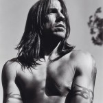 Anthony Kiedis black & white topless photo