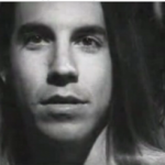 young Anthony Kiedis black & white photo