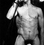 Anthony Kiedis black & white naked but for sock photo