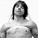 Anthony Kiedis black & white Scar Tissue cover of him topless wrapped in bandages