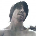 Anthony Kiedis black & white head tilted