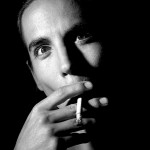 Anthony Kiedis black & white smoking