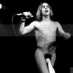 Anthony Kiedis black & white naked except sock