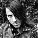 mean Anthony Kiedis black & white photo