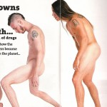 Anthony Kiedis naked in Kerrang! with John Frusciante