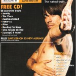 Anthony Kiedis naked on Kerrang! cover 2002