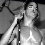 Anthony Kiedis black & white photo of him topless with body painting