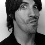 Anthony Kiedis black & white photo of his funny face