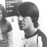 mean looking Anthony Kiedis black & white photo