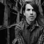 Anthony Kiedis in the slums black & white photo