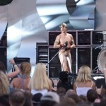 Anthony Kiedis naked with sock on stage