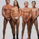 RHCP: naked Flea, aked Anthony Kiedis, naked Chad Smith and naked John Frusciante