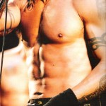 Anthony Kiedis topless ripped six pack live