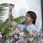 Anthony Kiedis asterisk tattoo and tiger tattoo