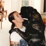 Anthony Kiedis with a dog