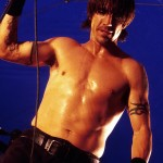 topless anthony kiedis glistening sweat
