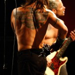 Anthony Kiedis tattoo back eagle falcon motif