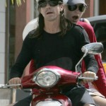 EXCLUSIVE: Anthony Keidis and two friends on a moped in St Barths