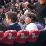 Anthony Kiedis Lakers game LA