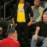 Anthony Kiedis Lakers game LA angry