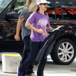 Anthony Kiedis Lakers game LA arriving with Rick Rubin