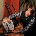 Anthony Kiedis autograph signing drum