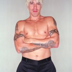 Topless Anthony Kiedis tattoo armbands and daggers