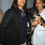 Anthony Kiedis with a dog