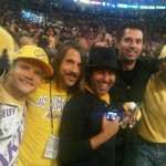 Anthony Kiedis Lakers game LA with friends