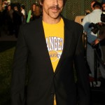 Anthony Kiedis Lakers game LA wearing black jacket