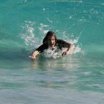 anthony kiedis swimming turquoise sea