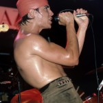 sweaty Anthony Kiedis red swimming cap Irving Plaza 1984