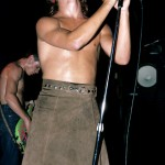 topless Anthony Kiedis brown skirt Irving Plaza 1984