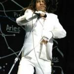 Anthony Kiedis white suit white gloves