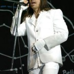Anthony Kiedis white suit fingerless gloves