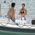 Anthony Kiedis zebra swim shorts Rota Hans boat