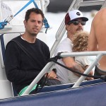 Guy Oseary And Anthony Kiedis On A Boat In St. Barts (USA ONLY)