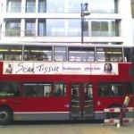 Scar Tissue by Anthony Kiedis advert on bus
