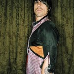 Anthony kiedis RHCP multi-colored shirt sideways