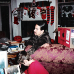 Photo taken by Blackie Dammett of Anthony Kiedis Christmas with stockings