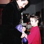 Photo taken by Blackie Dammett of Anthony Kiedis Christmas with Jamie