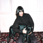 Photo taken by Blackie Dammett of Anthony Kiedis with dog