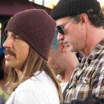 Kiedis with RHCP at The Grove on 4th November 2010