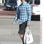 anthony kiedis new short hair cut plaid shirt
